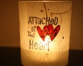 lips red new wife girlfriend candle holder luminary with handmade paper
