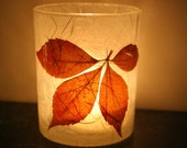 earthy natural modern home decor candle holder luminary with handmade paper