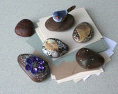 office decor river stone rock home accent for men women him her
