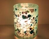 abstract nostalgic fresh airy handmade candle holder luminary with handmade paper