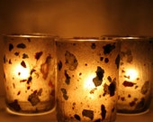 earthy natural custom night light candle holder luminary with handmade paper