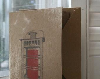 Let your light shine... Vintage Lantern Notecard -- Card and Envelope Set