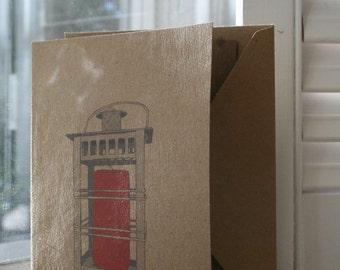 Let your light shine... Vintage Lantern Notecard Set of 4 Cards and Envelopes
