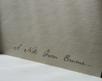 Personalized Stationery -- The Pen & Ink -- Set of Custom Notes and Envelopes- CHOOSE your QUANTITY