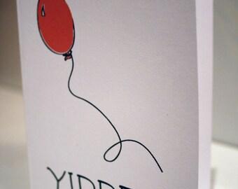 Y I P P E E  -- Celebration Card Set of 8 for Invitations, Congratulations, & Salutations