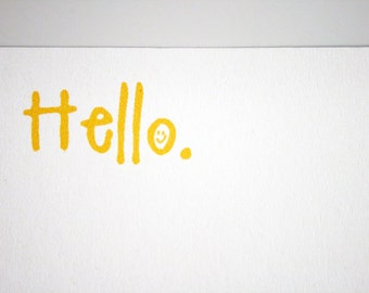 Sunshine Stationery -- A Sunny Hello -- Set of Flat Notes and Envelopes