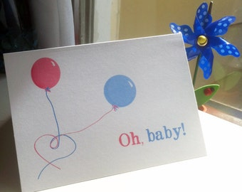 Oh, baby --  Card & Envelope -- CHOOSE your QUANTITY