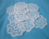 RESERVED - 100 Plastic doilies for dollhouse- miniature