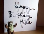 Hand Cut Personalised Birthday Card
