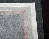 Pebble Wool Felt Palette    -12 x 12 in. Squares - 6 Sheets