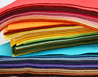 10 Sheets 12 x 12 in. - Wool Blend Felt Squares - Your Choice of Colors