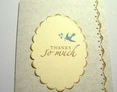 25 Wedding Thank You Cards - Wedding Cards - Thank You Cards - Blue Bird Thank You Cards - Bridal Thank You Cards - Thanks So much Cards