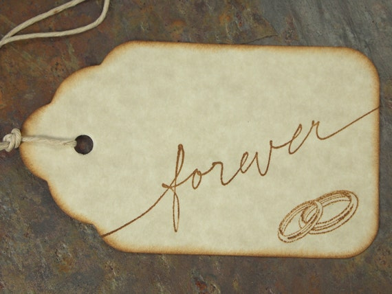 Wedding Wish Tags Wedding Gift Tags:  Forever Wish Tags on Astroparche Premium Cardstock Set of 10 E-113