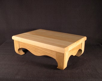 Wood Cutting Board Footed Countertop Maple and White Oak Artisan Butcher Block