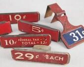General Store Signage: Price Signs-Numbers-Advertising-Vintage Sign