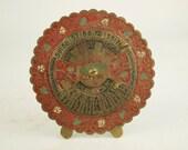 Perpetual Calendar: Vintage Calendar-Brass Calendar-Desk Calendar