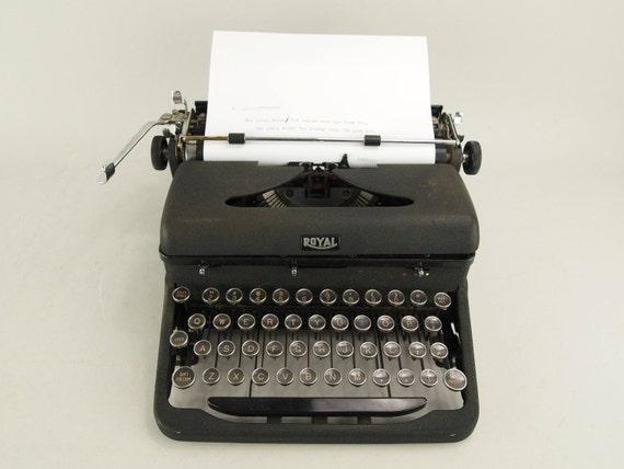 Typewriter: Royal Arrow-1930's Typewriter-Vintage Typewriter