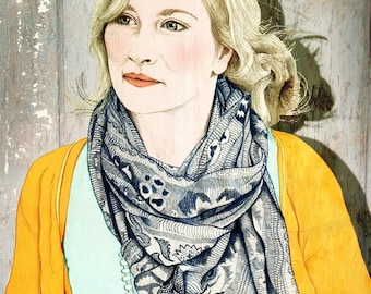Limited Edition Archival Print 'Female with scarf detail'