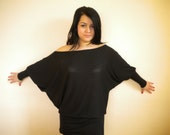 off shoulder oversize top plus size loose shirt batwing sleeve maternity jersey top made to order