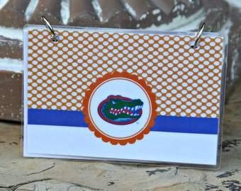 Index Card Binder, 4 x 6, Index Card Holder, Personalized Flashcard Holder, Recipe Book, Laminated Note Card Binder, University of Florida