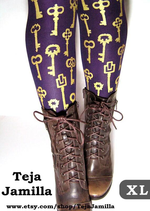 Etsy Printed Tights Uk Lolita Fashion