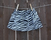 Zebra print skirt / baby, toddler, girls boutique skirt