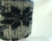Coffee Cozy BLACK SNOWFLAKE Nordic Sweater Wool Cosy