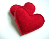 Valentines Day Heart Hand Warmers RED HOT Reusable Ecofriendly Wool Hearts Handwarmers Cashmere Rice Bags Teacher Gift for Love WormeWoole