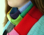 RAINBOW Cashmere Scarf / Patchwork Rainbow Scarf / Upcycled Cashmere Sweater Rainbow Spectrum Ecofriendly Slow Fashion Gift by WormeWoole