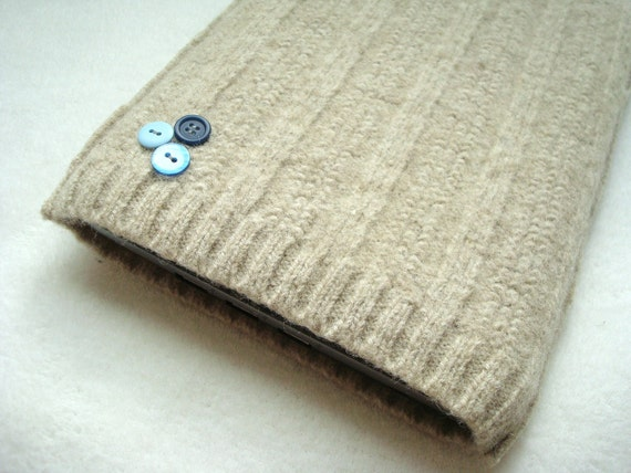 Netbook iPad Cover NATURAL Sleeve Case Felted Sweater Wool