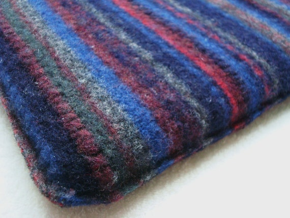 Netbook iPad Cover BLUE RED Sleeve Case Felted Sweater Wool