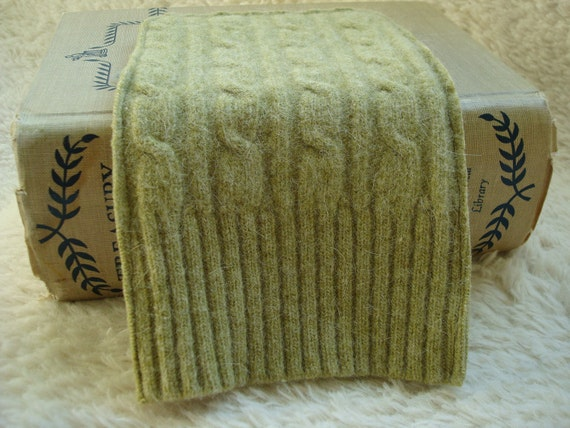 Kindle Cover Nook HD Cover Kindle Case SAGE GREEN Cables Eco Friendly Sweater Wool by WormeWoole