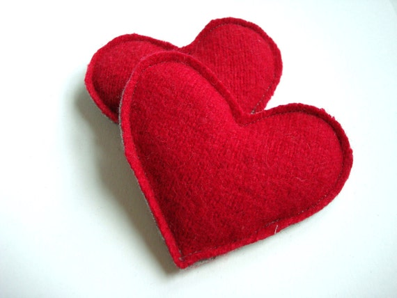 Heart Hand Warmers RED HOT Reusable Ecofriendly Wool Hearts Handwarmers Cashmere Rice Bags Teacher Gift Stocking Stuffer