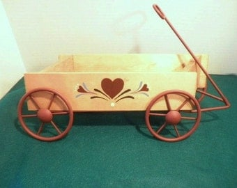 Pennsylvania Dutch Wagon Flower Wall Hanger