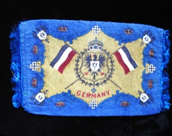 Antique Cigar Box Flag of Germany 1900s