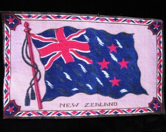 Antique Cigar Box Flag of New Zealand 1900s