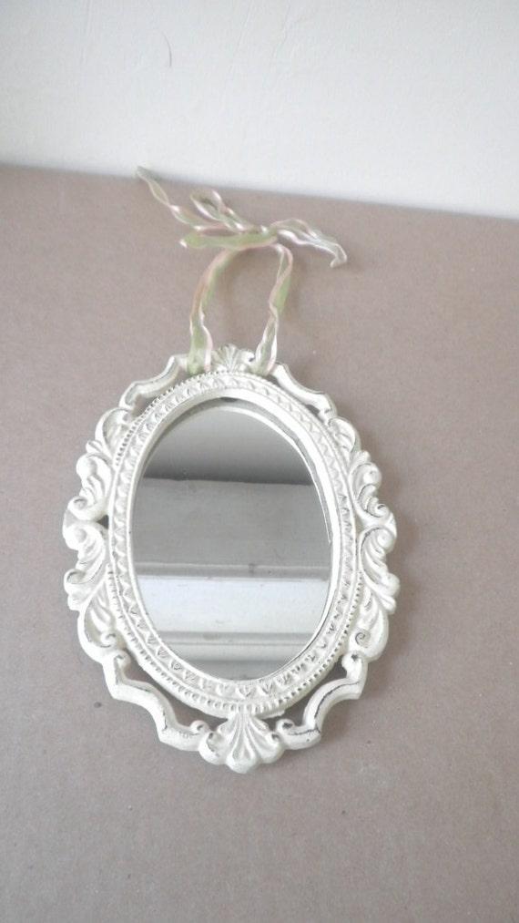 Cast Iron Hanging Mirror Retro Victorian Style