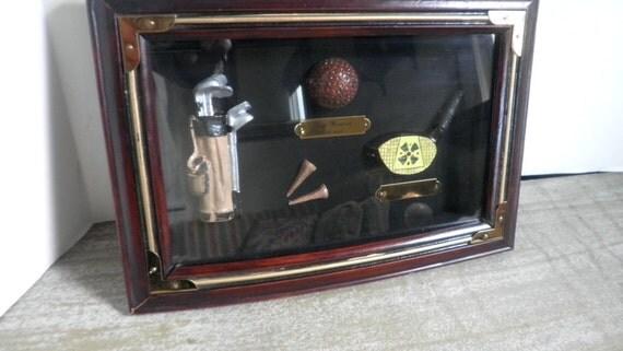 Golf Shadow Box Display