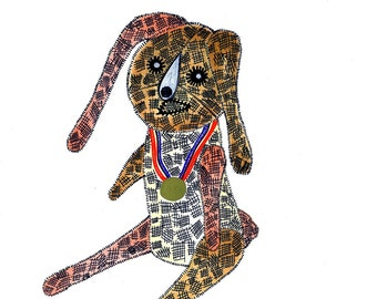 2016 Olympics Gold Medal Rabbit