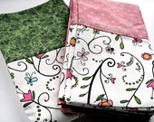 Kid Pillowcase Set - Butterflies and Ladybugs - Set of Two