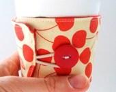 Reusable Tea and Coffee Cozy Sleeve: Cherries