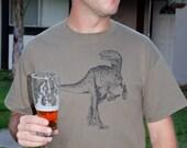 Beer Drinking Dinosaur Graphic Craft Beer Shirt