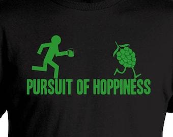Pursuit of Hoppiness - Beer Geek T-Shirt - Oktoberfest Birthday Christmas Gift
