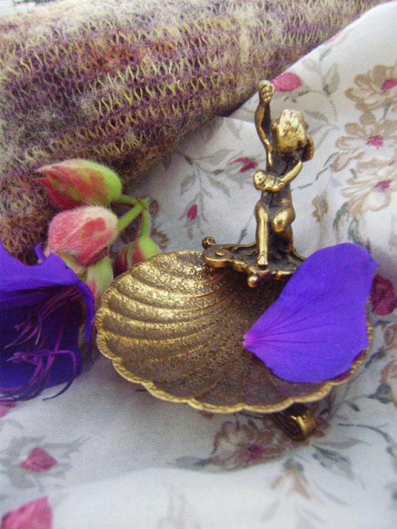 Small Brass Angelique Jewelry Dish