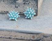 Delightful Vintage Blue Spiked Earrings