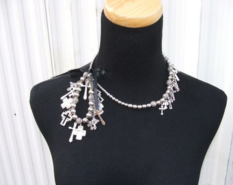 Cross Necklace and Matching Bracelet
