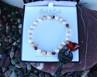 Vintage Bracelet boho Paris Chic  vintage key Valentines Day