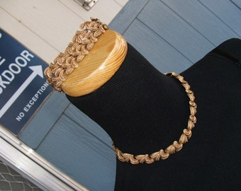 Choker Coro Signed Awesome Vintage Necklace and Bracelet