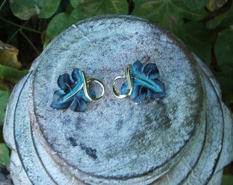 Leaf Vintage Clip On Vintage Earrings