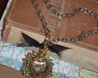 Alice in Chains and Hearts Vintage Necklace